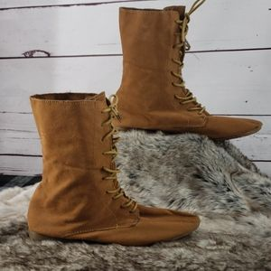 Forever Tan Lace Up Boots
